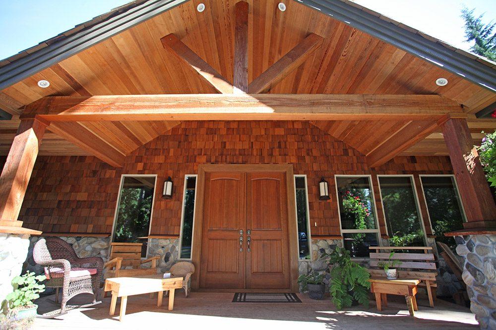 Sidewall Shingle Home Entrance